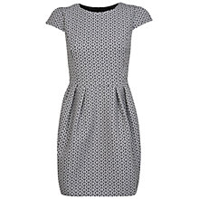Buy Miss Selfridge Jacquard Tulip Dress, Black / White Online at johnlewis.com