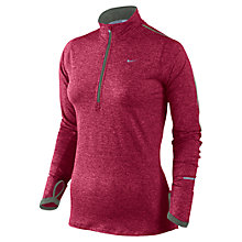 Buy Nike Women's Element Half Zip Running Top, Red Online at johnlewis.com
