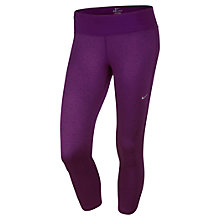 Buy Nike Epic Printed Cropped Running Tights, Purple Online at johnlewis.com