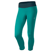 Buy Nike Epic Contrast Waistband Running Tights, Green Online at johnlewis.com