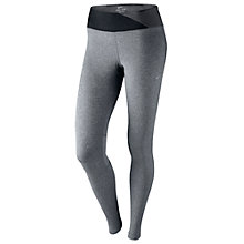 Buy Nike Epic Contrast Waistband Running Tights, Anthracite/Black Online at johnlewis.com