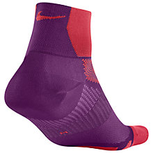 Buy Nike Elite Hyper-Lite Quarter Running Socks, Purple Online at johnlewis.com