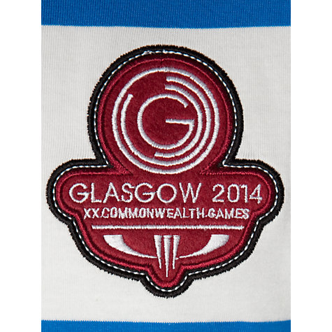 Buy Glasgow 2014 Commonwealth Games Striped Polo Shirt, White/Blue Online at johnlewis.com