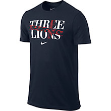 Buy Nike England Three Lions Supporter's T-Shirt, Grey Online at johnlewis.com