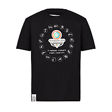 Buy Glasgow 2014 Commonwealth Games Pictogram T-Shirt, Black Online at johnlewis.com