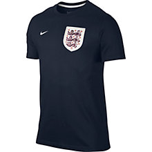 Buy Nike England Badge Supporter's T-Shirt, Grey Online at johnlewis.com