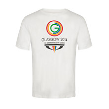 Buy Glasgow 2014 Commonwealth Games Men's Logo T-Shirt, White Online at johnlewis.com