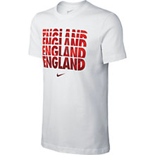 Buy Nike England Fade Supporter's T-Shirt, White Online at johnlewis.com
