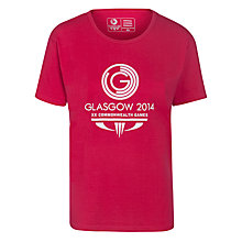 Buy Glasgow 2014 Commonwealth Games Men's Logo Crew Neck T-Shirt, Pink Online at johnlewis.com