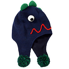 Buy John Lewis Monster Trapper Hat, Navy Online at johnlewis.com