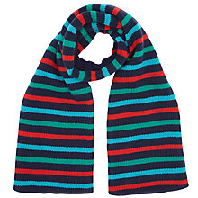 Buy John Lewis Stripe Knitted Scarf, Multi Online at johnlewis.com