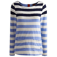 Buy Joules Anwen Jersey Top, Blue Online at johnlewis.com