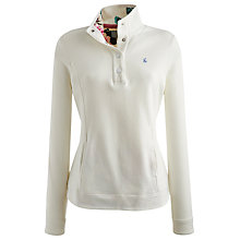 Buy Joules Beach Sweatshirt Top, Cream Online at johnlewis.com