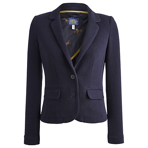Buy Joules Georgie Jersey Jacket, Marine Navy Online at johnlewis.com