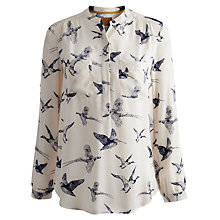 Buy Joules Rosamund Bird Blouse, Etched Birds Online at johnlewis.com