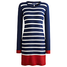 Buy Joules Maryam Knitted Dress, French Navy Online at johnlewis.com