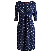 Buy Joules Annette Jersey Spot Dress, French Navy Online at johnlewis.com