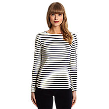 Buy Joules Harbour Stripe Top, Cream/Navy Stripe Online at johnlewis.com