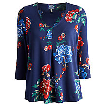 Buy Joules Peony Jersey Top, French Navy Online at johnlewis.com