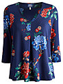 Joules Peony Jersey Top, French Navy