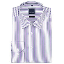 Buy Daniel Hechter Double Stripe Shirt, White/Purple Online at johnlewis.com