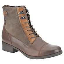 Buy Clarks Morgan Carla Lace Ankle Boots, Brown Online at johnlewis.com