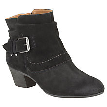 Buy Clarks Melanie Jude Suede Casual Boots, Black Online at johnlewis.com