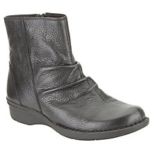 Buy Clarks Money Whistle Leather Ankle Boots, Black Online at johnlewis.com
