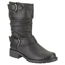 Buy Clarks Orinoco Jive Leather Calf Boots, Black Online at johnlewis.com