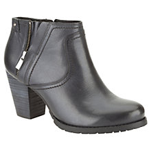 Buy Clarks Macay Halle Leather Ankle Boots, Black Online at johnlewis.com