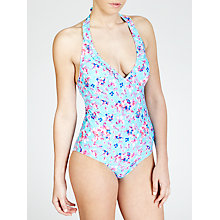 Buy John Lewis Faded Floral Swimsuit, Mint Online at johnlewis.com