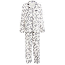 Buy John Lewis Lace Print Pyjama Set, Medieval Blue / Ivory Online at johnlewis.com