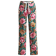Buy Joules Fleur Rose Pyjama Bottoms, Chocolate Online at johnlewis.com