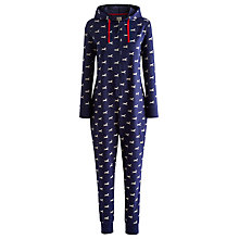 Buy Joules Oona Reindeer Sweat Onesie, Navy Online at johnlewis.com