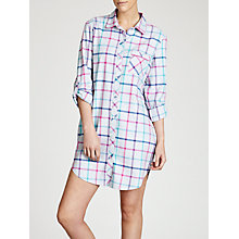 Buy John Lewis Blanket Check Nightshirt, Grey / Brights Check Online at johnlewis.com