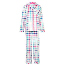 Buy John Lewis Woven Blanket Check Pyjama Set, Grey / Brights Online at johnlewis.com