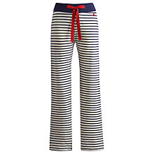 Buy Joules Cora Stripe Pyjama Bottoms, Cream / Navy Online at johnlewis.com
