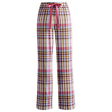 Buy Joules Fleur Nell Check Pyjama Bottoms, Chocolate Online at johnlewis.com