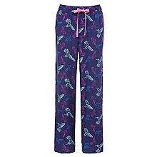 Buy John Lewis Woven Hummingbird Pyjama Pants, Navy Multi Online at johnlewis.com