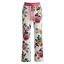 Buy Joules Cora Rose Pyjama Bottoms, Cream Rose Online at johnlewis.com
