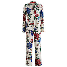 Buy Joules Floral Pyjama Set, Cream Peony Online at johnlewis.com
