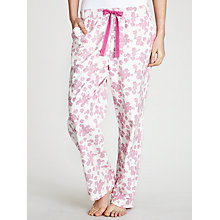 Buy John Lewis Lace Print Pyjama Pants, Rosebud / Ivory Online at johnlewis.com