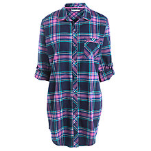 Buy John Lewis Rosebud Check Nightshirt, Navy / Brights Check Online at johnlewis.com