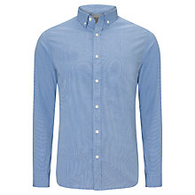 Buy John Lewis End On End Long Sleeve Shirt, Blue Online at johnlewis.com
