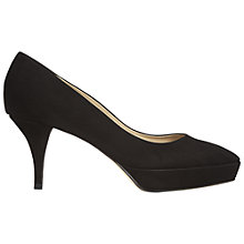 Buy Hobbs Amia Suede Court Heels, Black Online at johnlewis.com