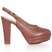 Buy Hobbs Darcy Leather Slingback Court Heels Online at johnlewis.com