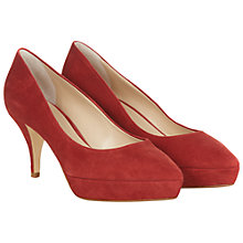 Buy Hobbs Amia Suede Court Heels, Nutmeg Online at johnlewis.com