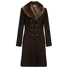 Buy John Lewis Fit And Flare Faux Fur Collar Coat Online at johnlewis.com