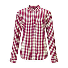 Buy John Lewis Gingham Shirt, Burgundy/Natural Online at johnlewis.com