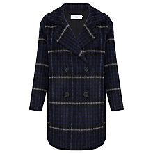 Buy Collection WEEKEND by John Lewis Check Coat, Black/Grey/Navy Online at johnlewis.com